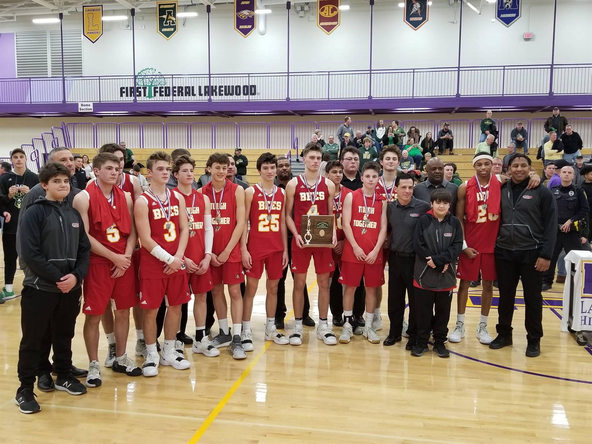 Boys Basketball OHSAA District Runner-ups