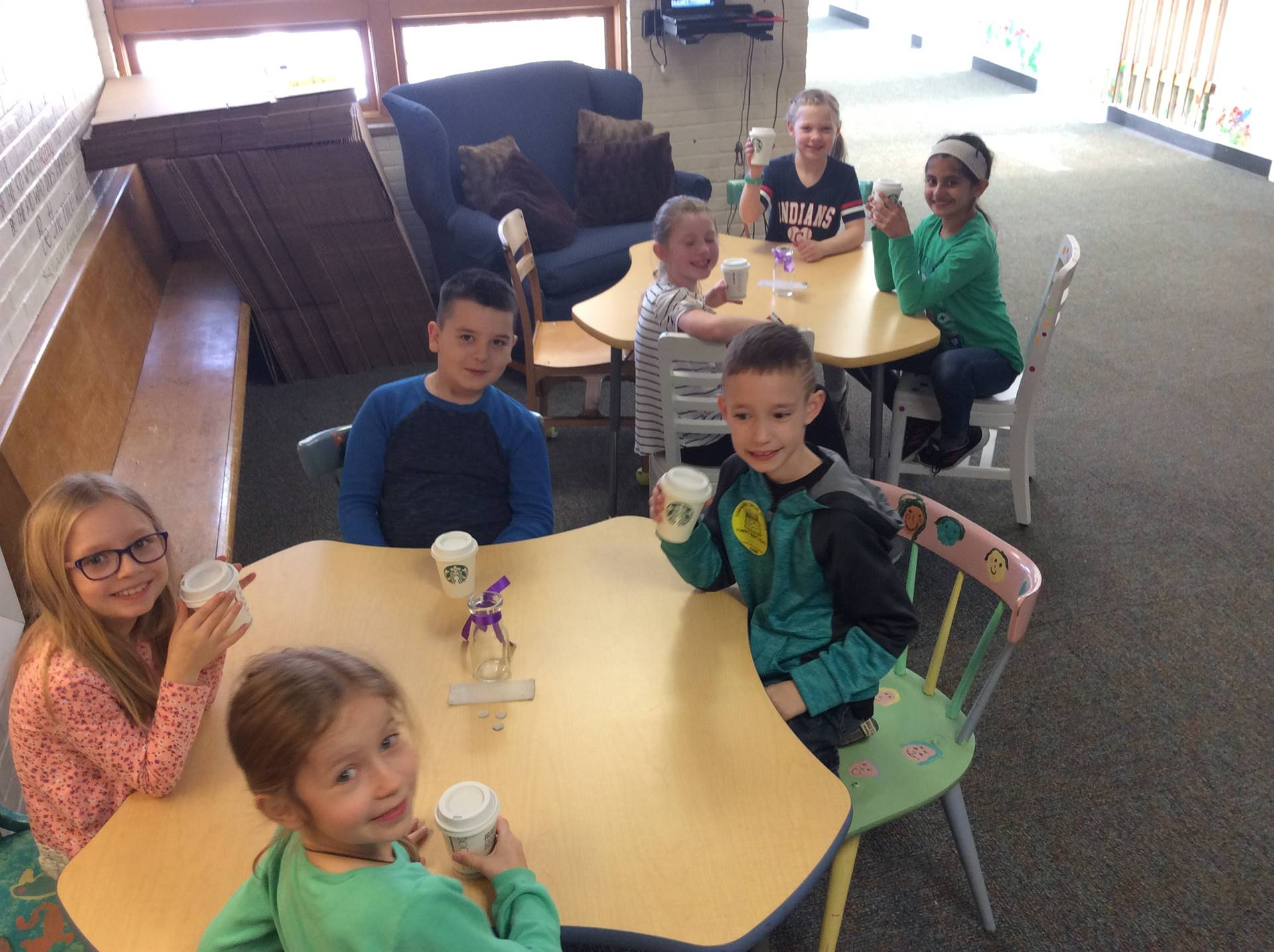 One School One Book Introduction in the Starbooks Cafe