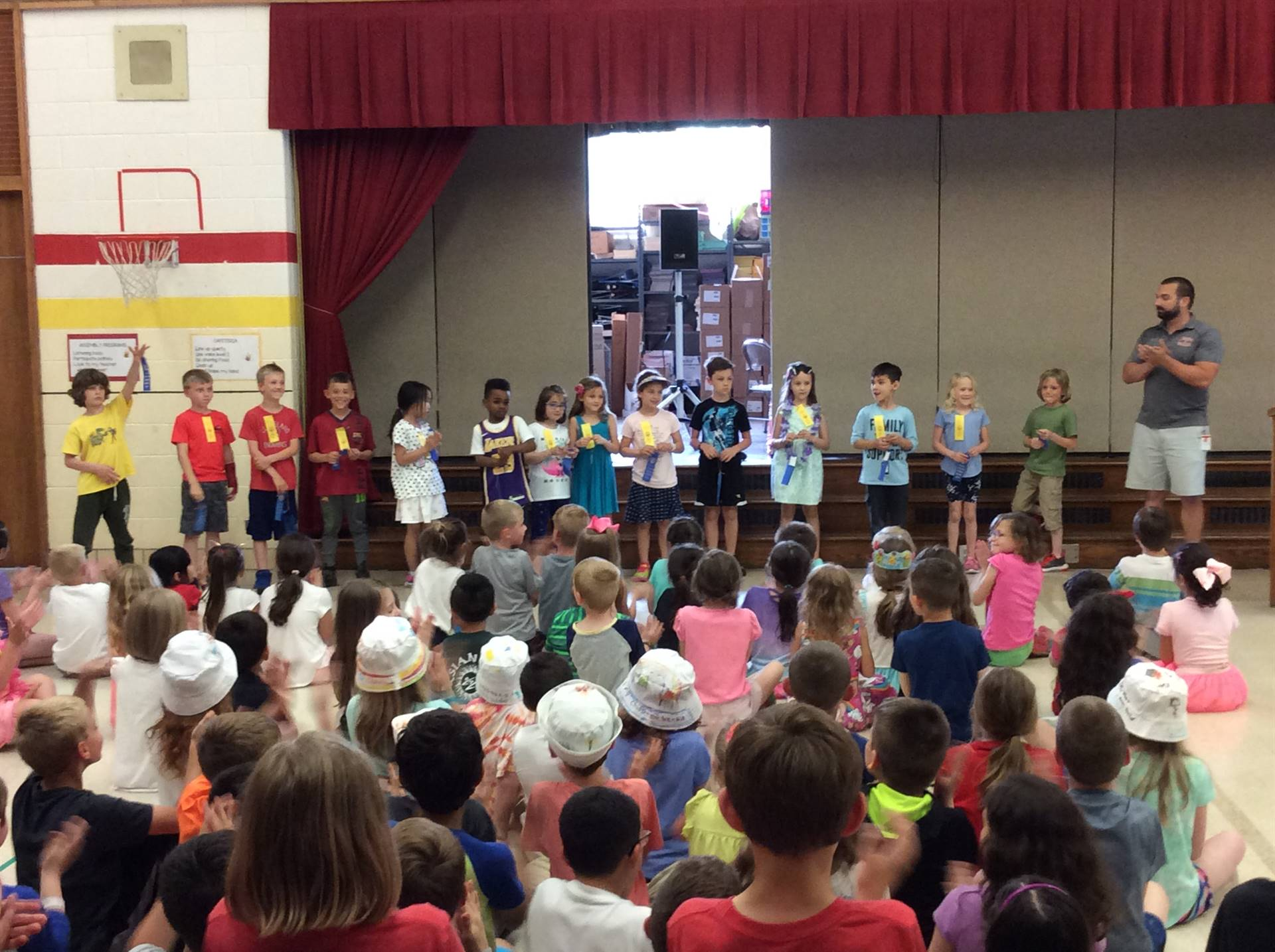 First Grade Blue Ribbon Award Winners for Physical Fitness