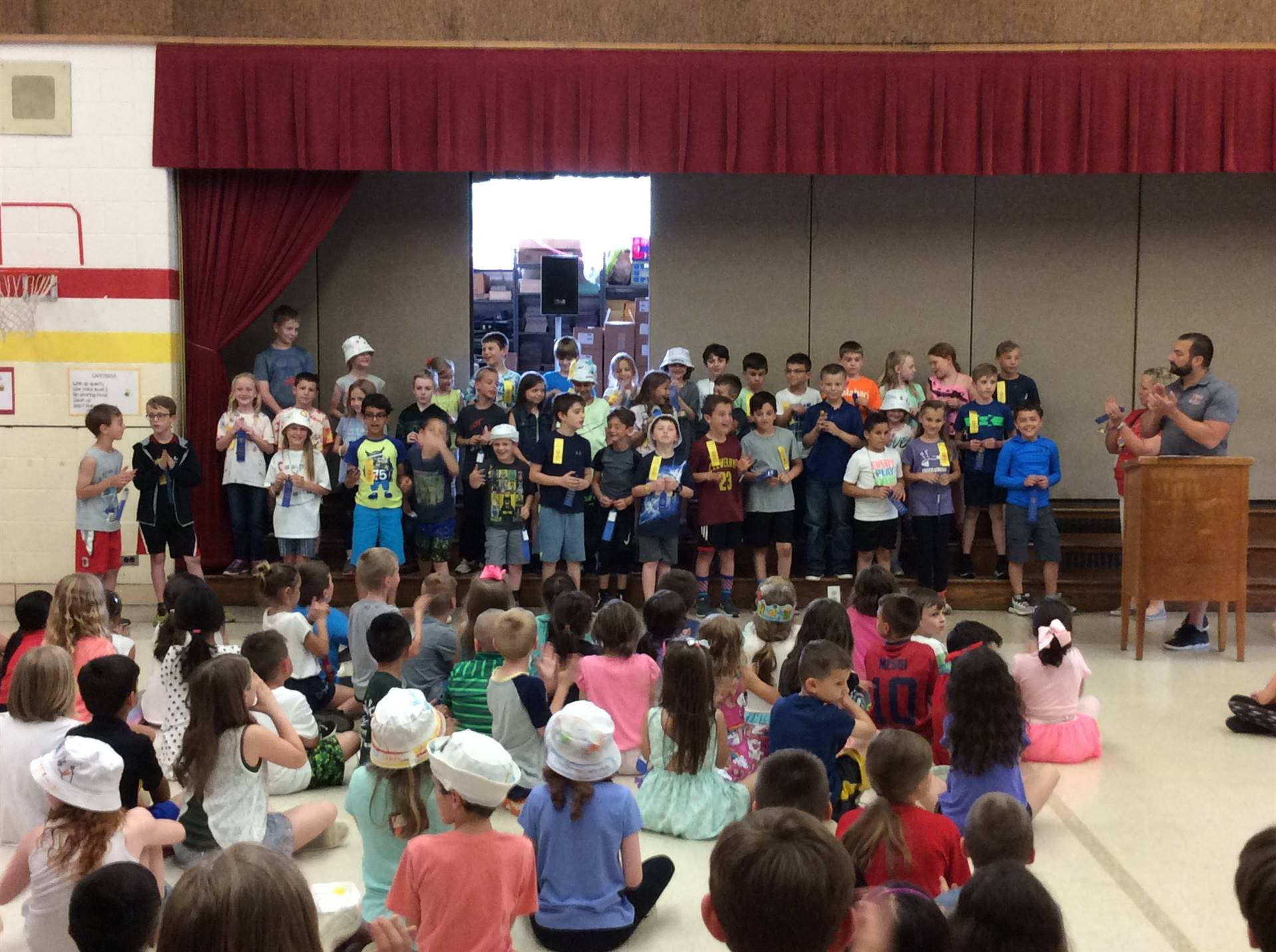 Second Grade Blue Ribbon Award Winners for Physical Fitness
