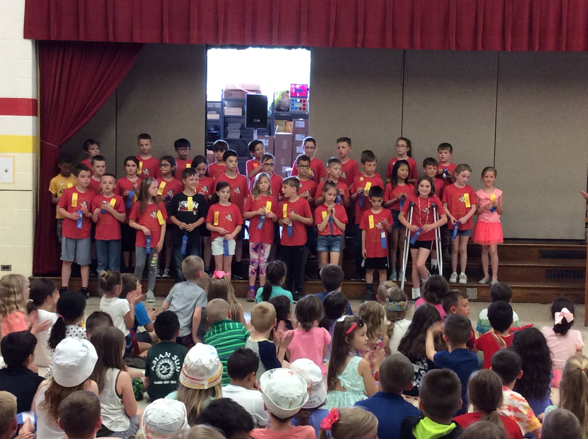 Third Grade Blue Ribbon Award Winners for Physical Fitness