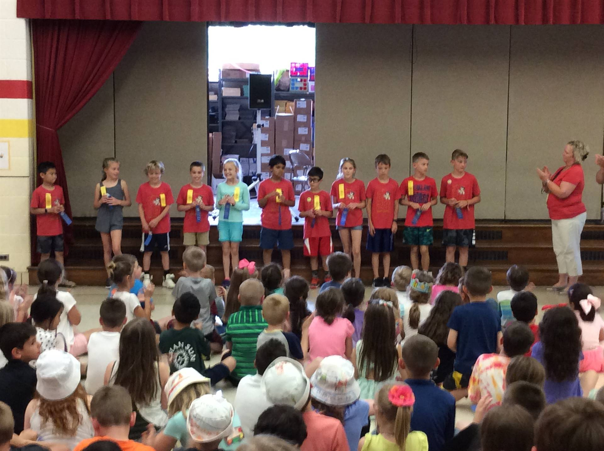 Triple Blue Ribbon Award Winners for Physical Fitness
