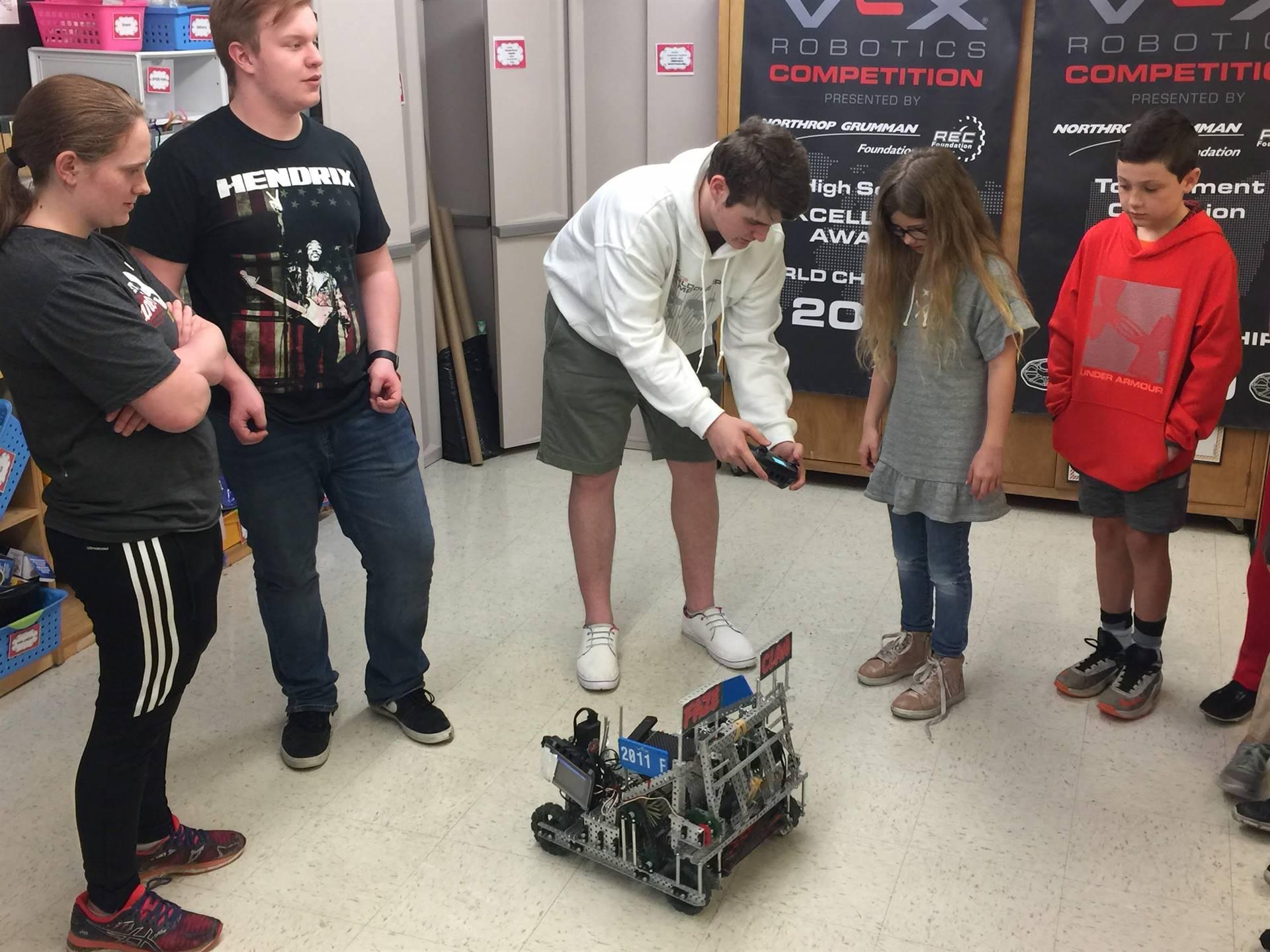 High School Robotics Team Visits third-grade Makers' Club High School Robotics Team Visits third-gra