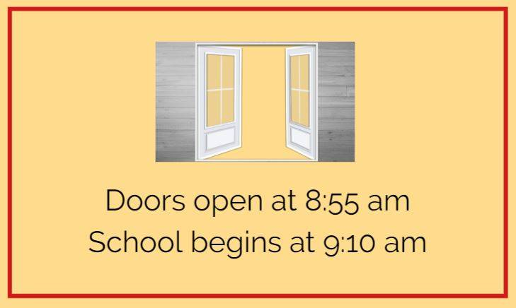 Doors open at 8:55 am