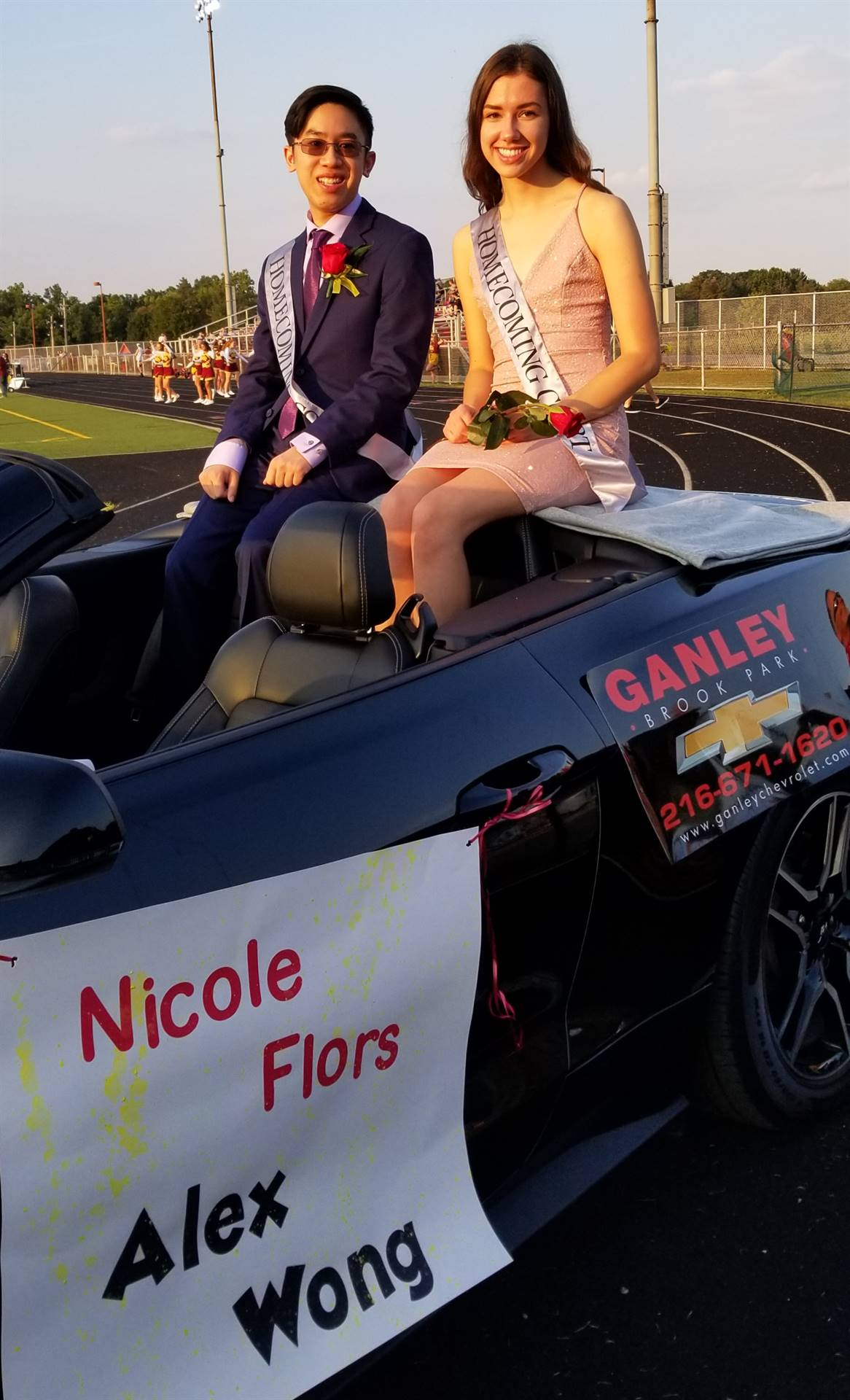 Homecoming Royalty King Alex Wong and Queen Nicole Flors