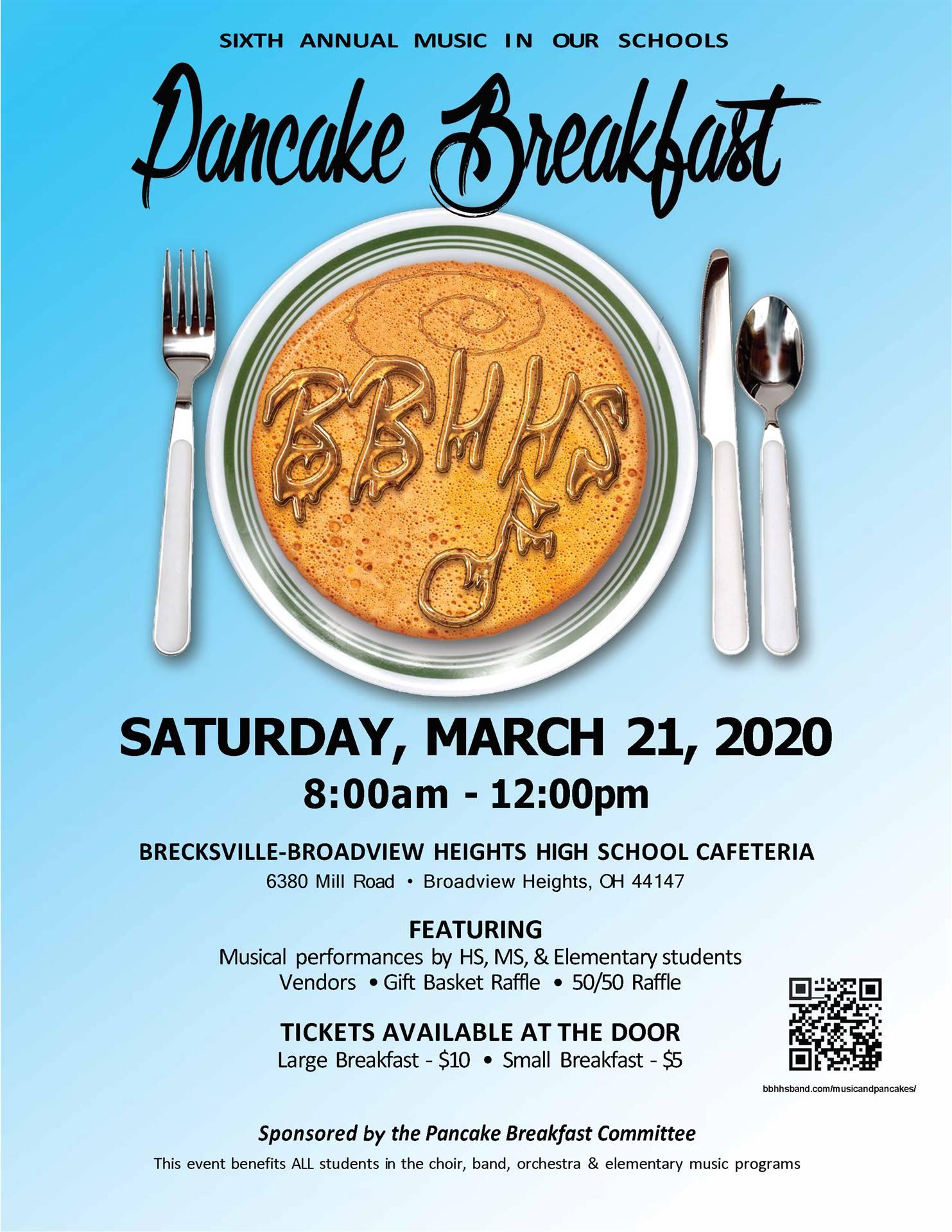 Pancake Breakfast March 21st