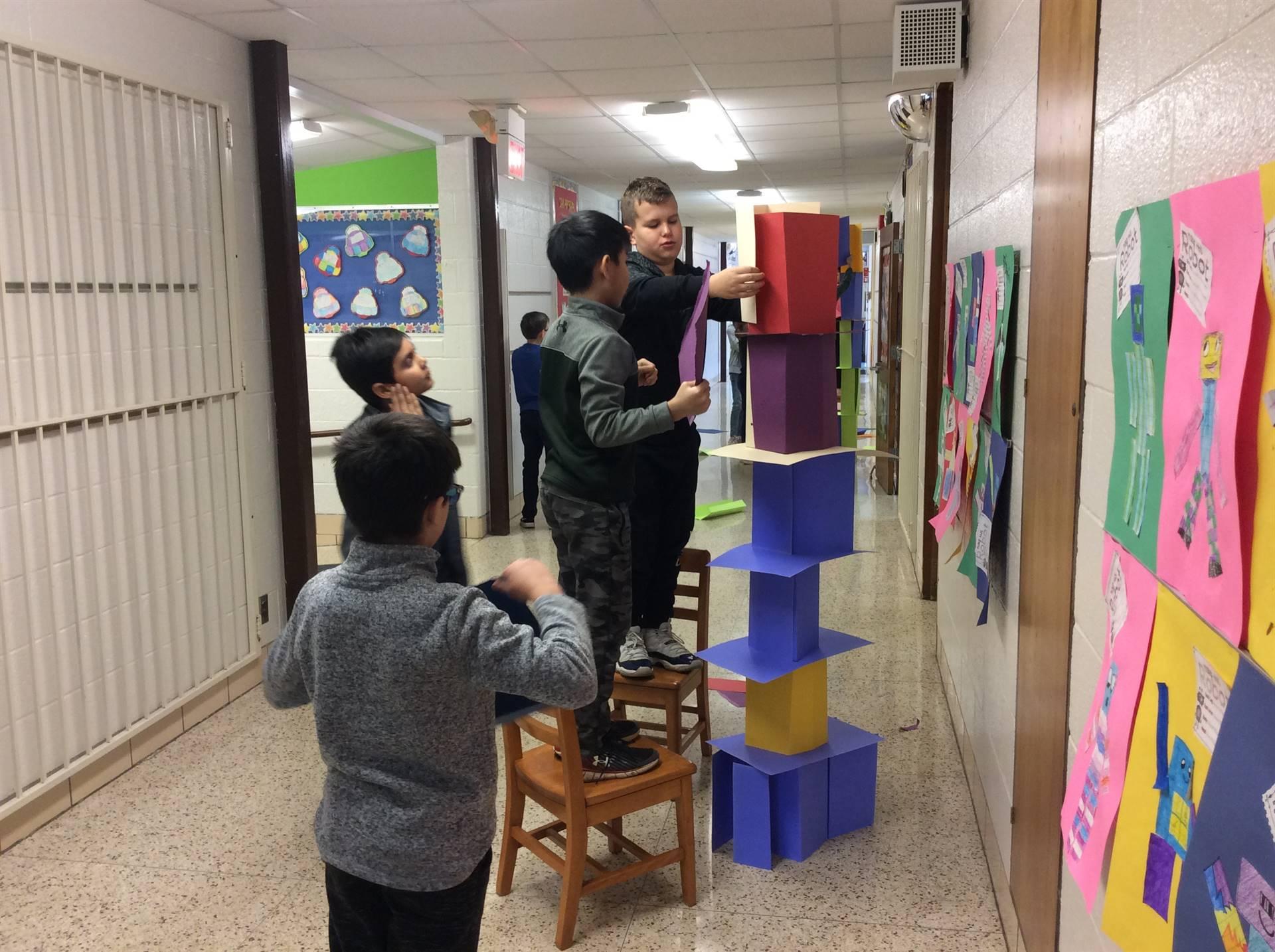 Tallest Paper Tower Challenge