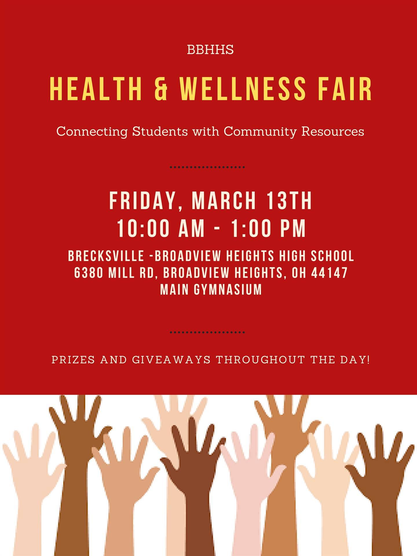 Health and Wellness Fair March 13th